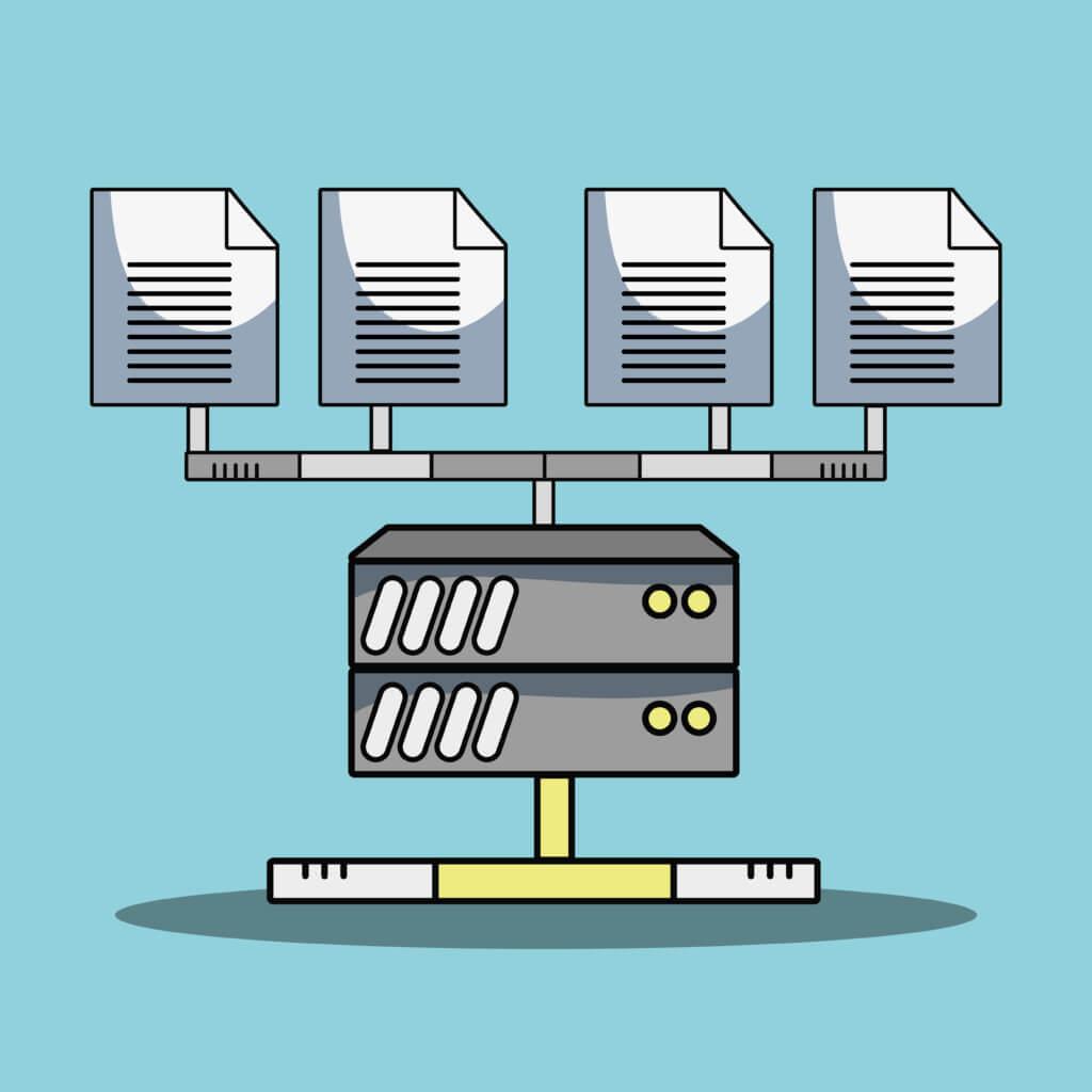system data center information server vector illustration